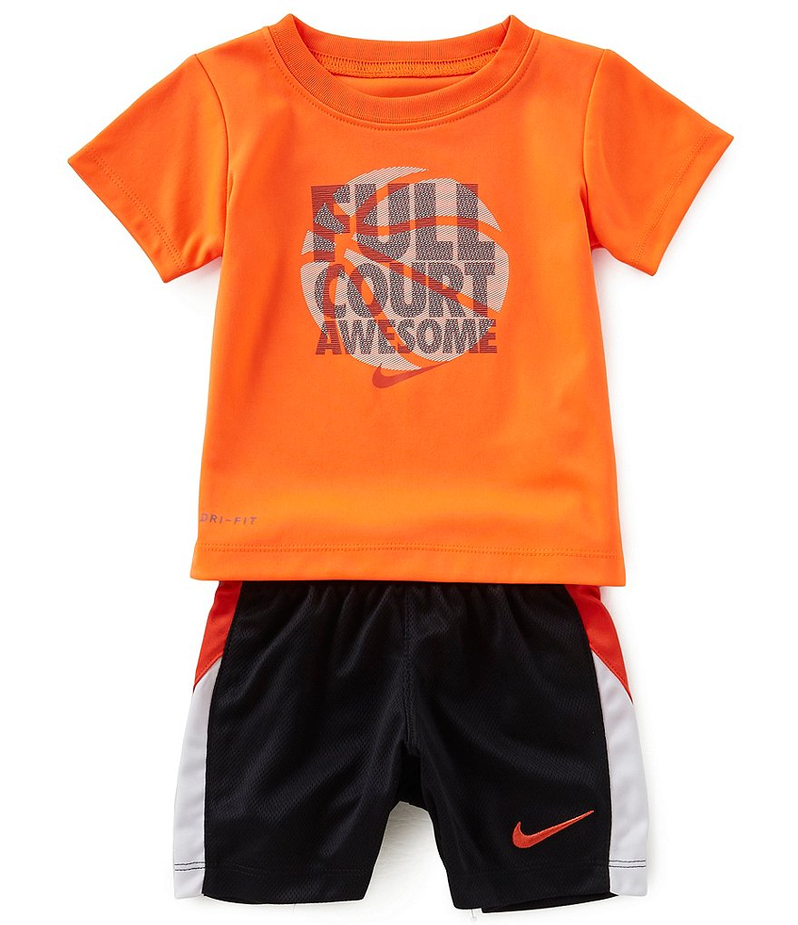 Nike Baby Boys 12-24 Months Short-Sleeve Full Court Awesome Tee & Pieced Shorts Set