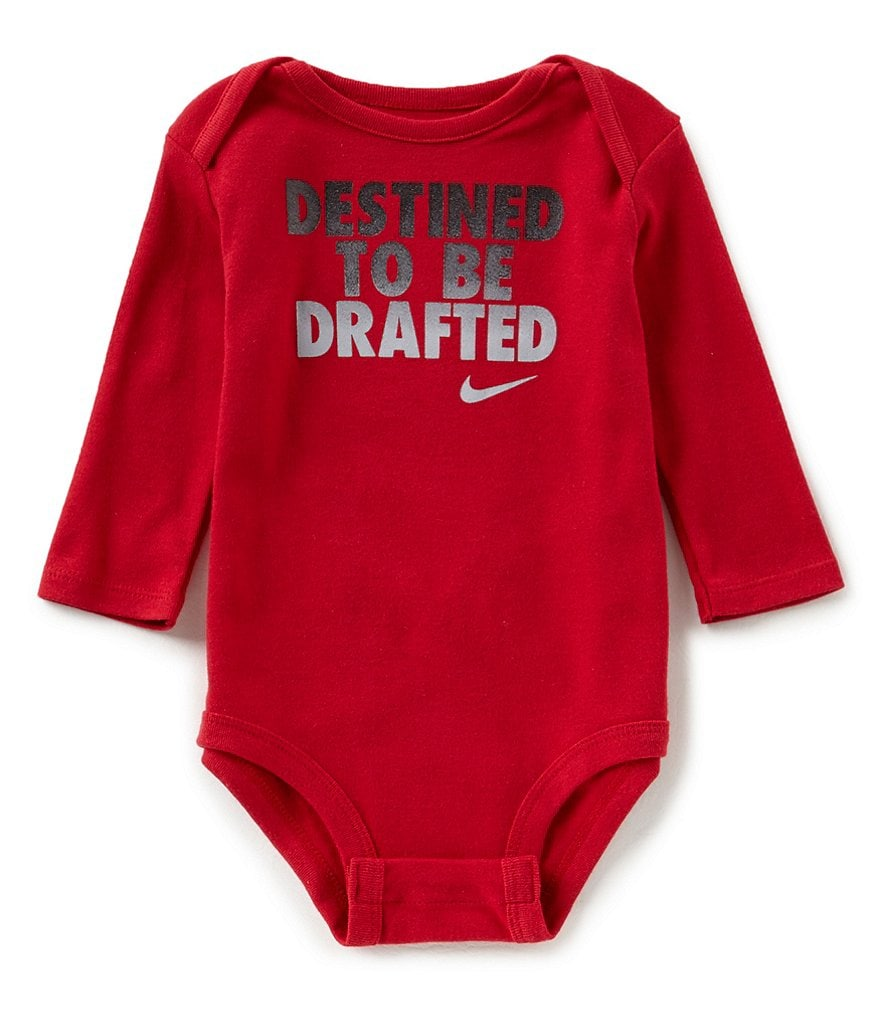Nike Baby Boys Newborn-12 Months Destined To Be Drafted Long-Sleeve Bodysuit