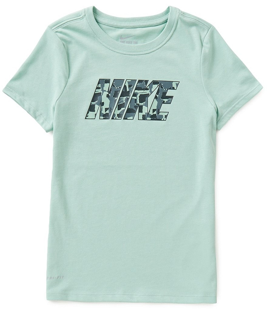 Nike Big Girls 7-16 Dri-FIT Short-Sleeve Printed Logo Tee