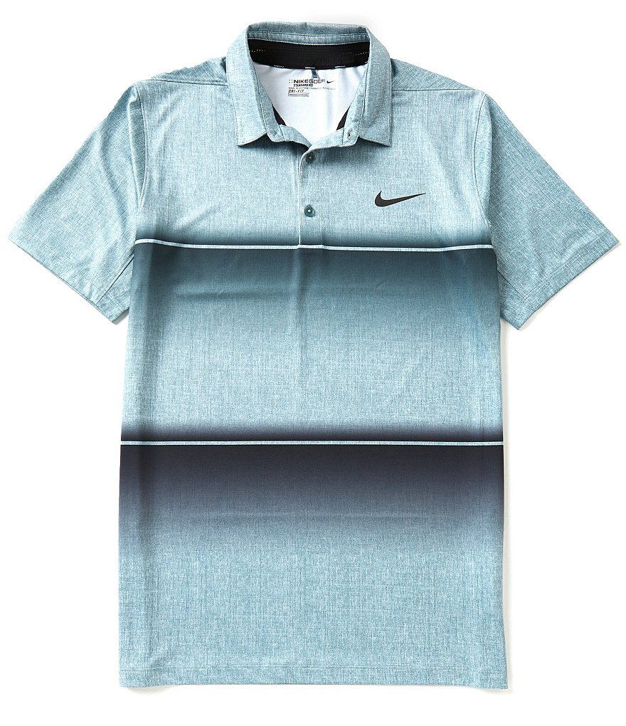 Nike Golf Short-Sleeve Mobility Stripe Polo Shirt