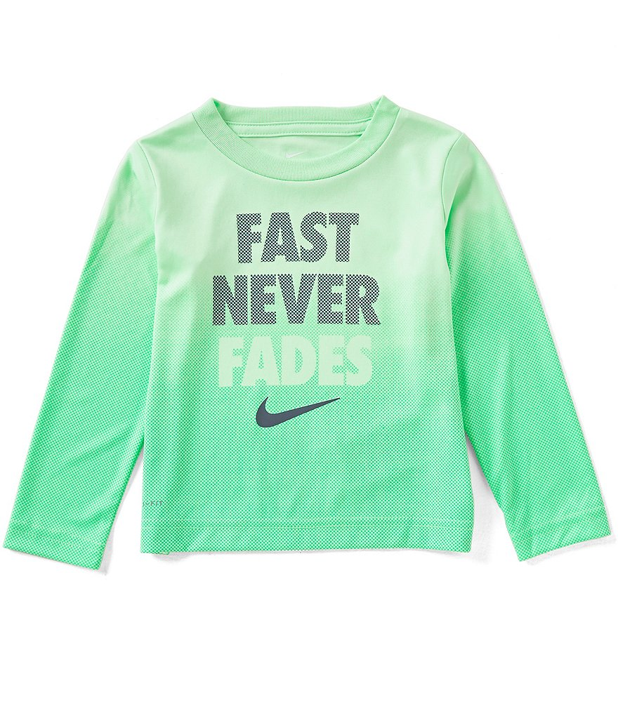 Nike Little Boys 2T-7 Fast Never Fades Printed Long-Sleeve Tee