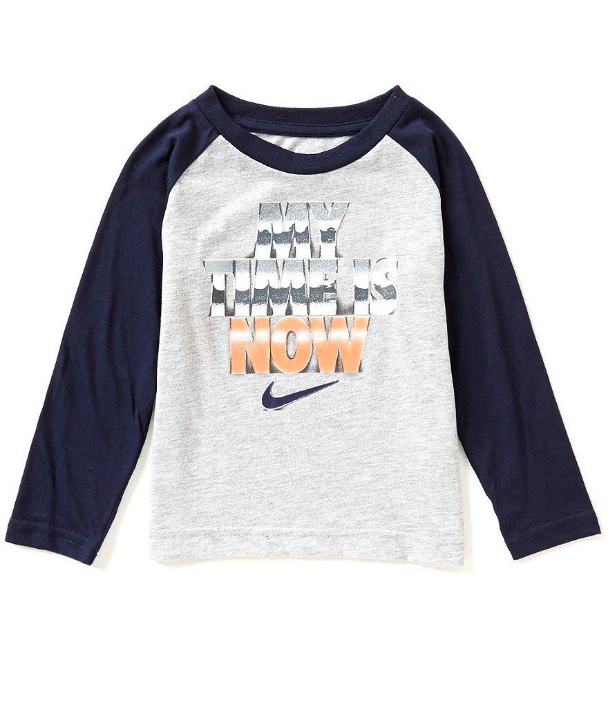 Nike Little Boys 2T-7 My Time Is Now Long-Sleeve Shirt