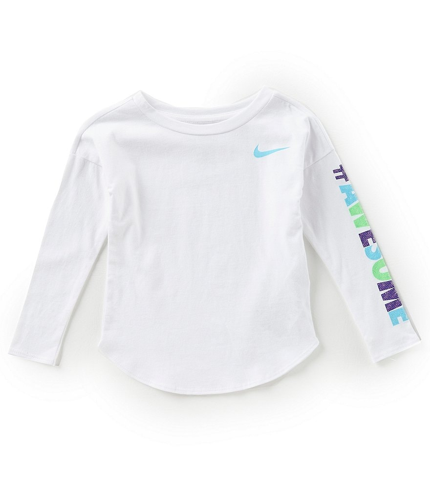 Nike Little Girls 2T-6X #Awesome Modern Long-Sleeve Tee