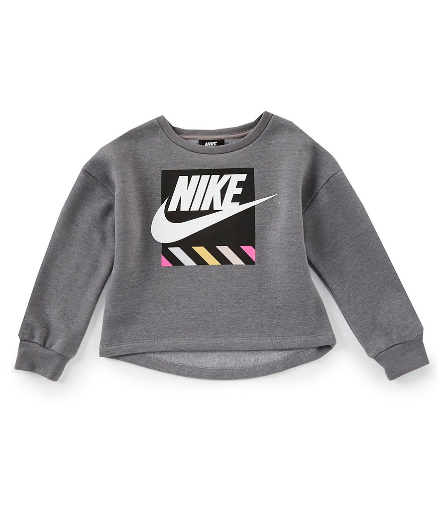 Nike Little Girls 2T-6X Futura Shine Cropped Pullover