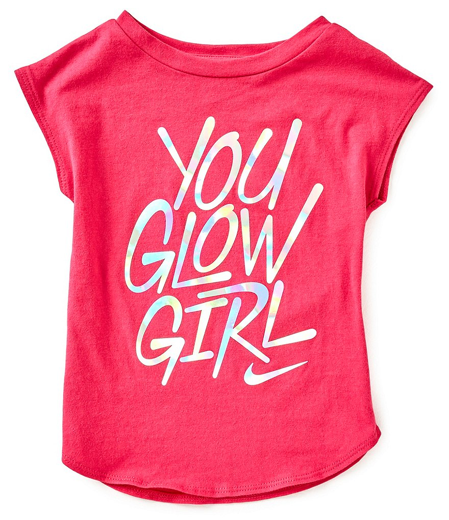 Nike Little Girls 2T-6X You Glow Girl Short-Sleeve Tee