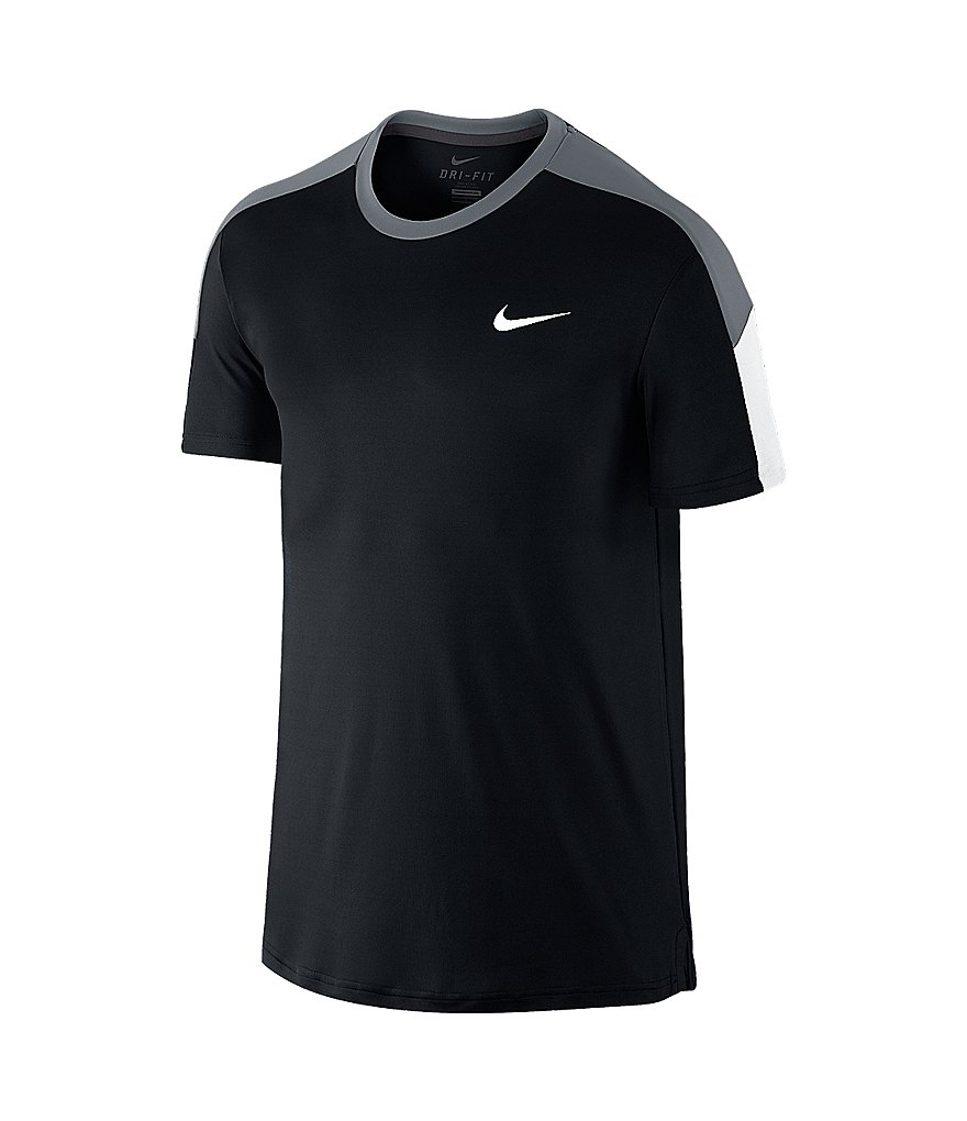 Nike Team Court Crewneck Color Blocked Tee