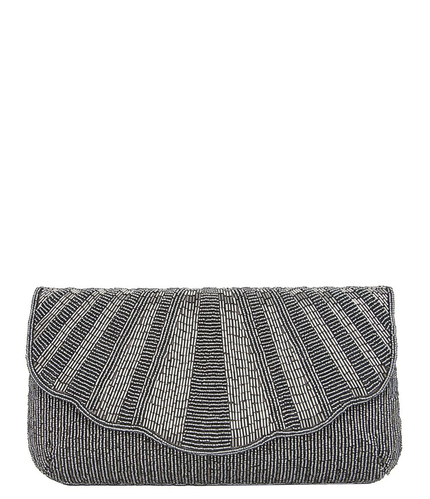 Nina Lacey Metallic Beaded Clutch