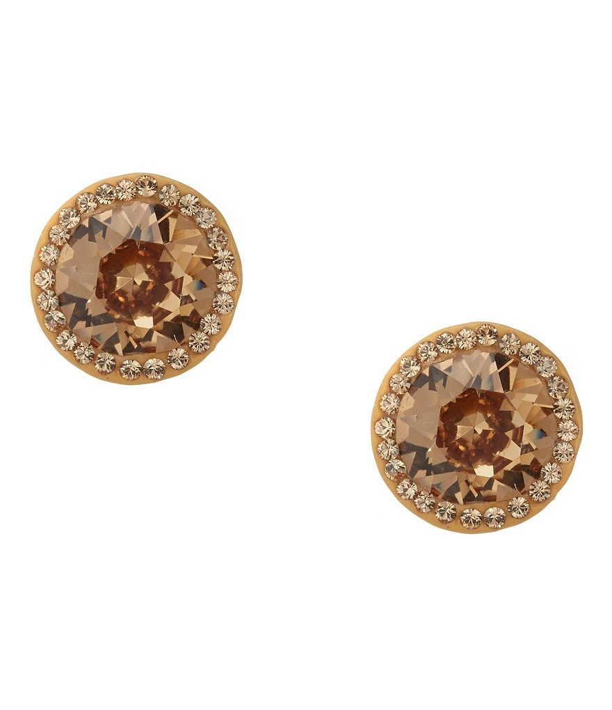 Nina Round Crystal Stud Earrings