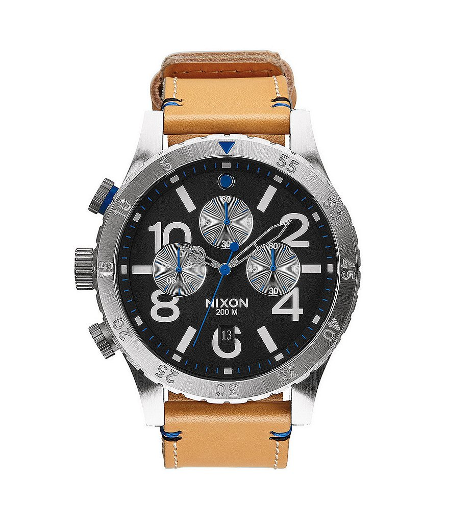 Nixon The 48-20 Chrono Leather Watch