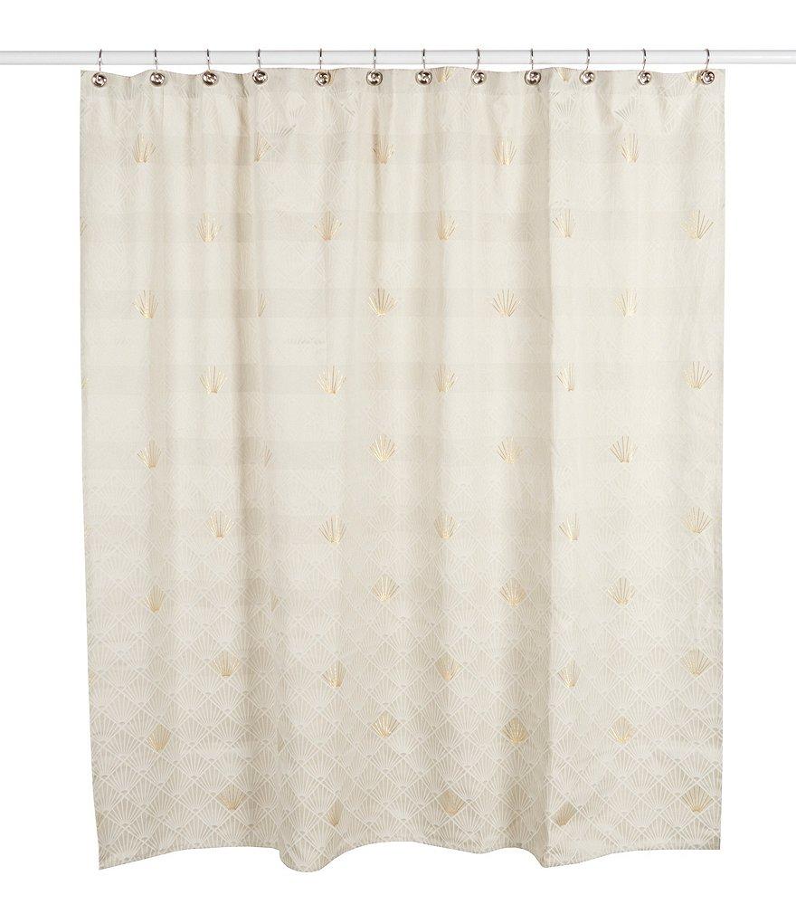 Noble Excellence Metallic Geometric Shower Curtain | Dillards