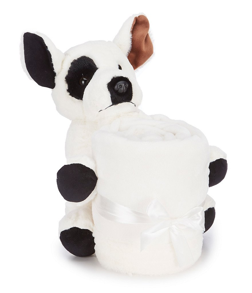 Noble Excellence Warm Shop Collection Throw & Puppy Stuffed Animal Set