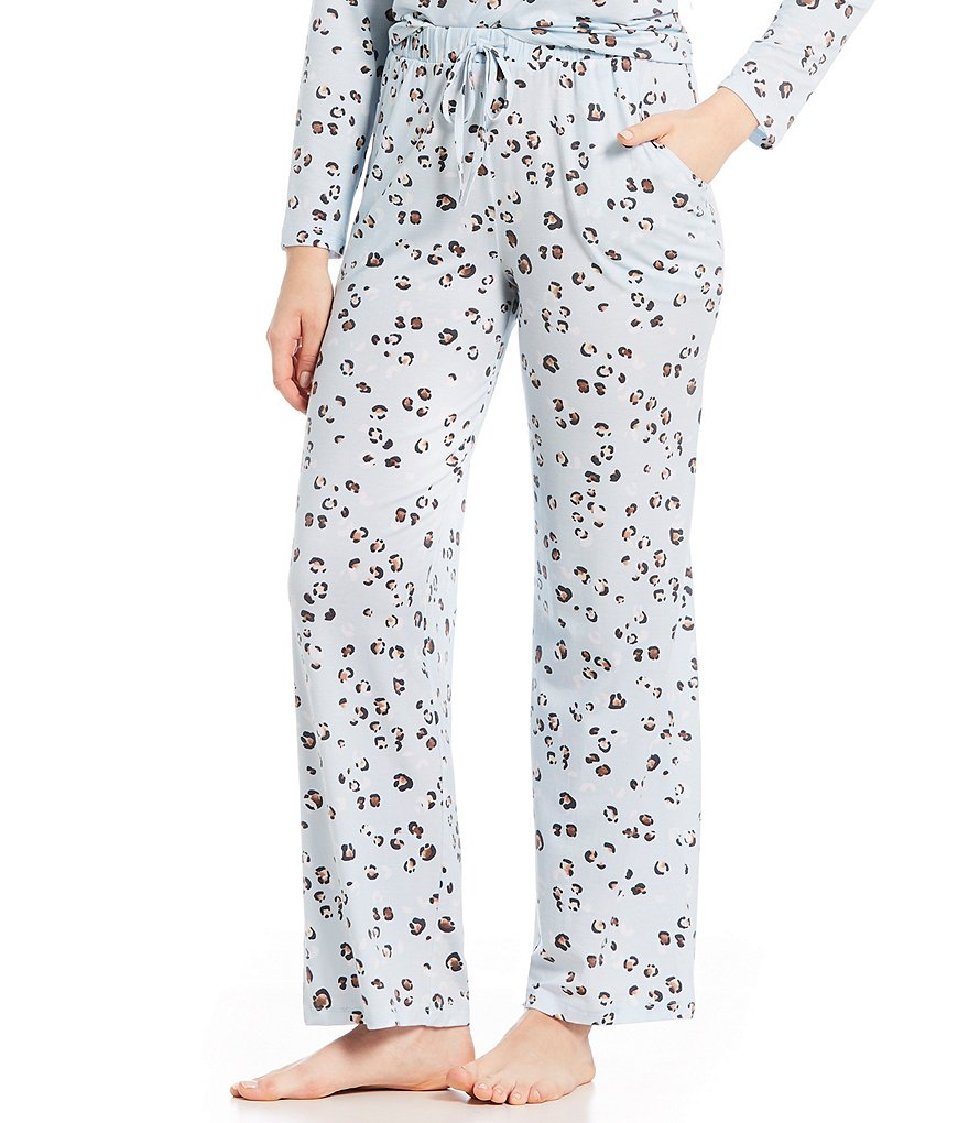 Nottibianche Leopard-Print Knit Sleep Pants
