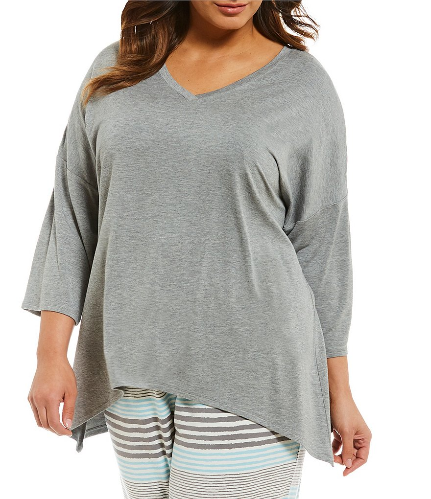 Nottibianche Plus French Terry Dolman Sleep Top