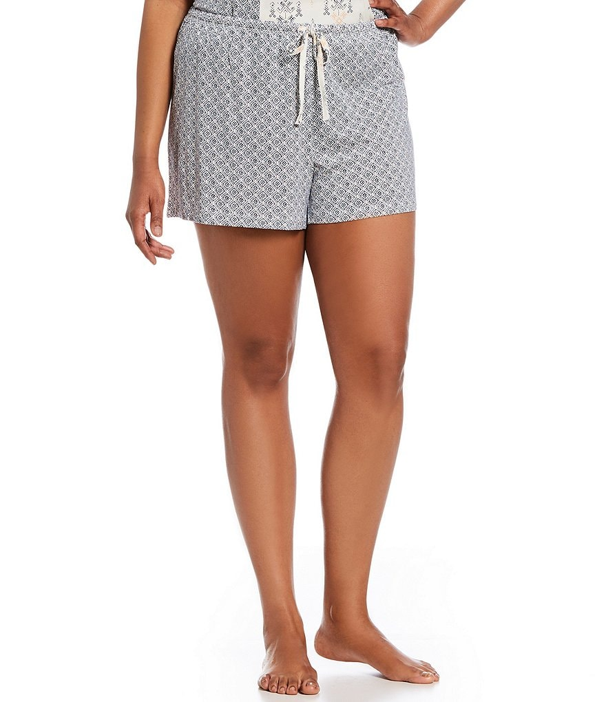 Nottibianche Plus Printed Sleep Shorts