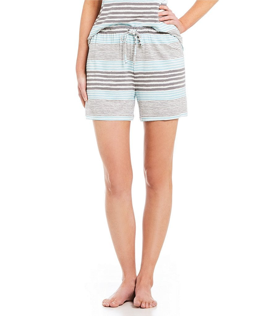 Nottibianche Striped French Terry Sleep Shorts