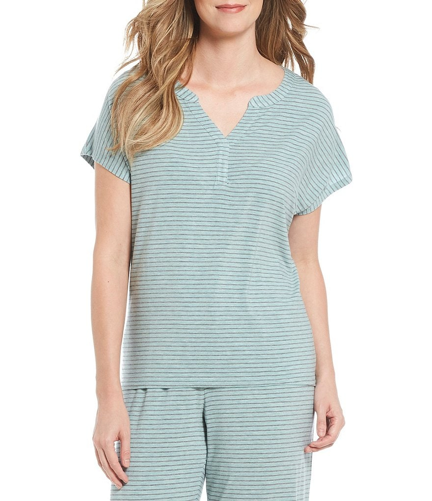 Nottibianche Striped Jersey Sleep Top