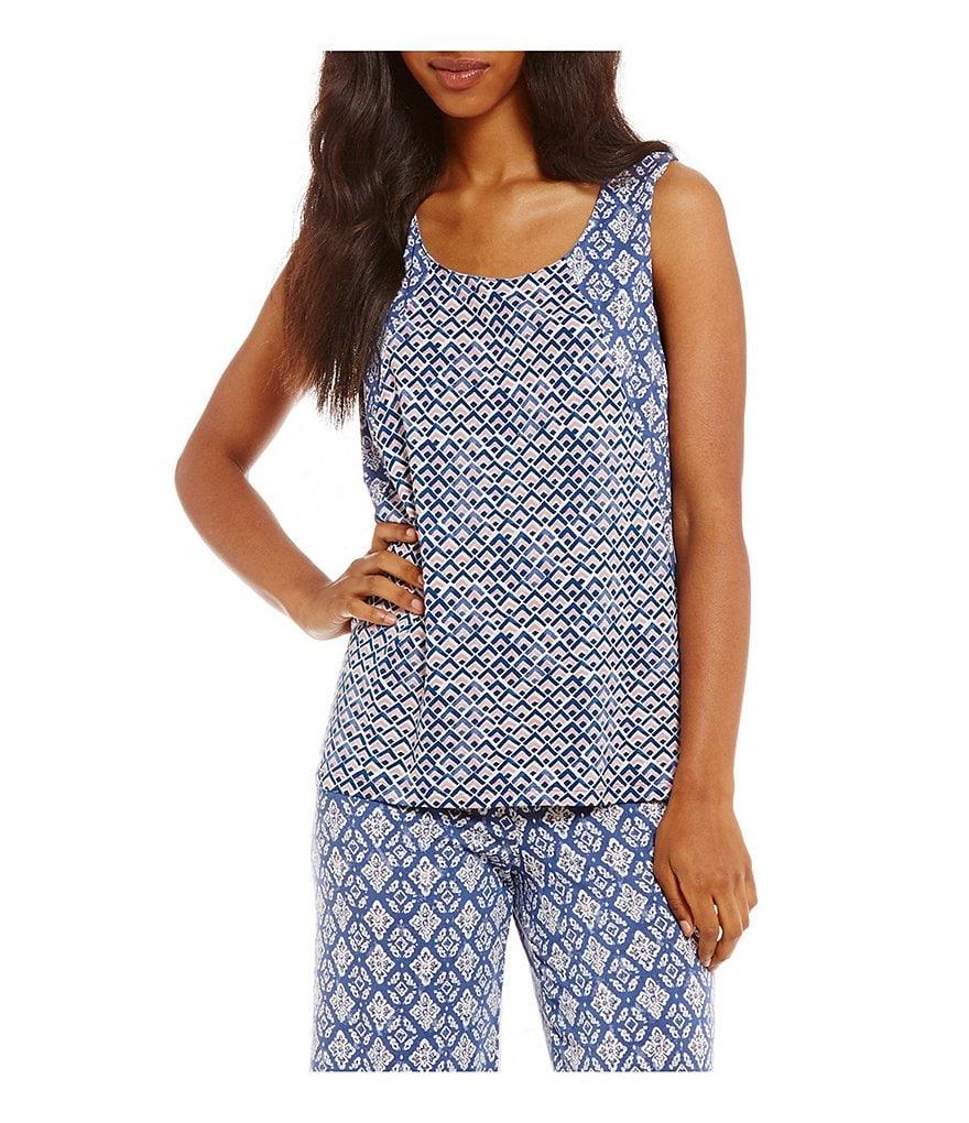 Nottibianche TEMPtations Mixed-Print Sleep Tank
