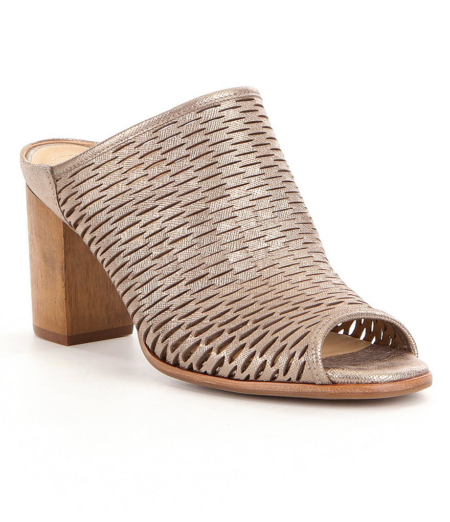 Nurture Wrenna Laser-Cut Leather Mules