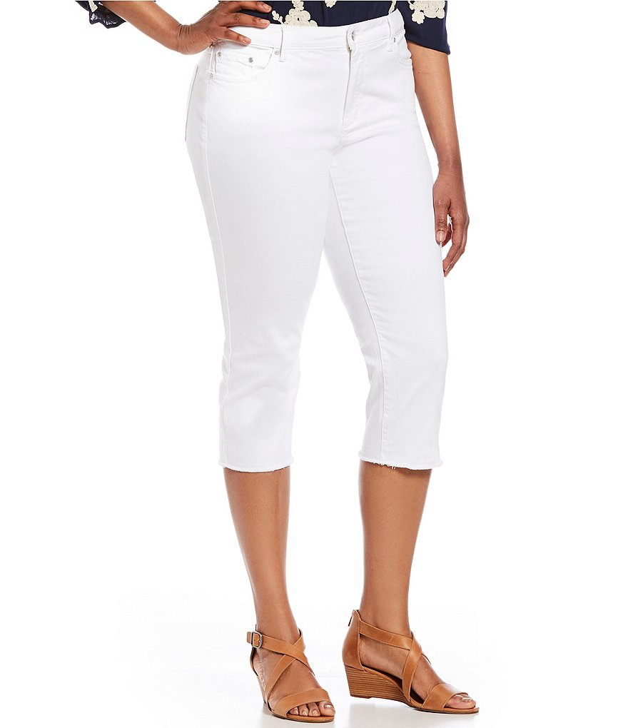 NYDJ Plus Released Hem Capri Jeans