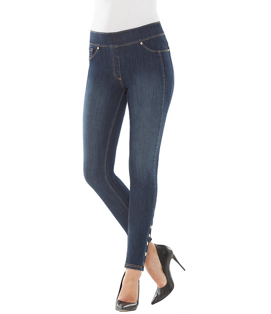 Nygard Slims Petite Luxe Denim Ankle Snap Jeans