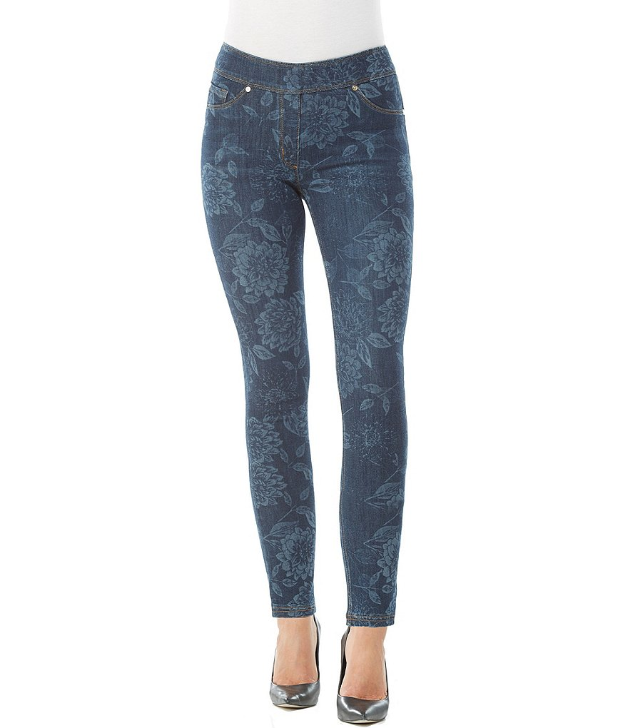 Nygard Slims Petite Luxe Denim Floral Print Jeggings