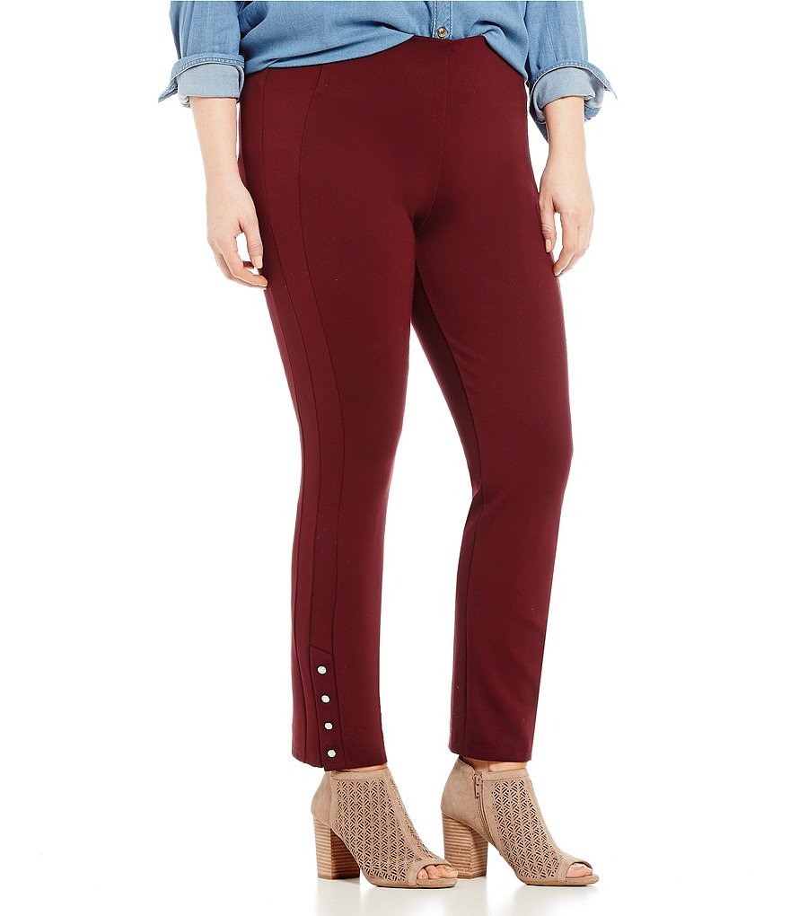 Nygard SLIMS Plus Luxe Ankle Snaps Ponte Pants