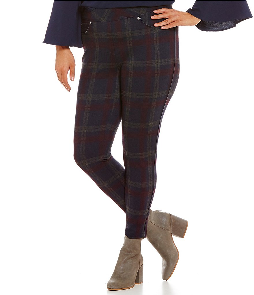 Nygard Slims Plus Luxe Plaid Jeggings