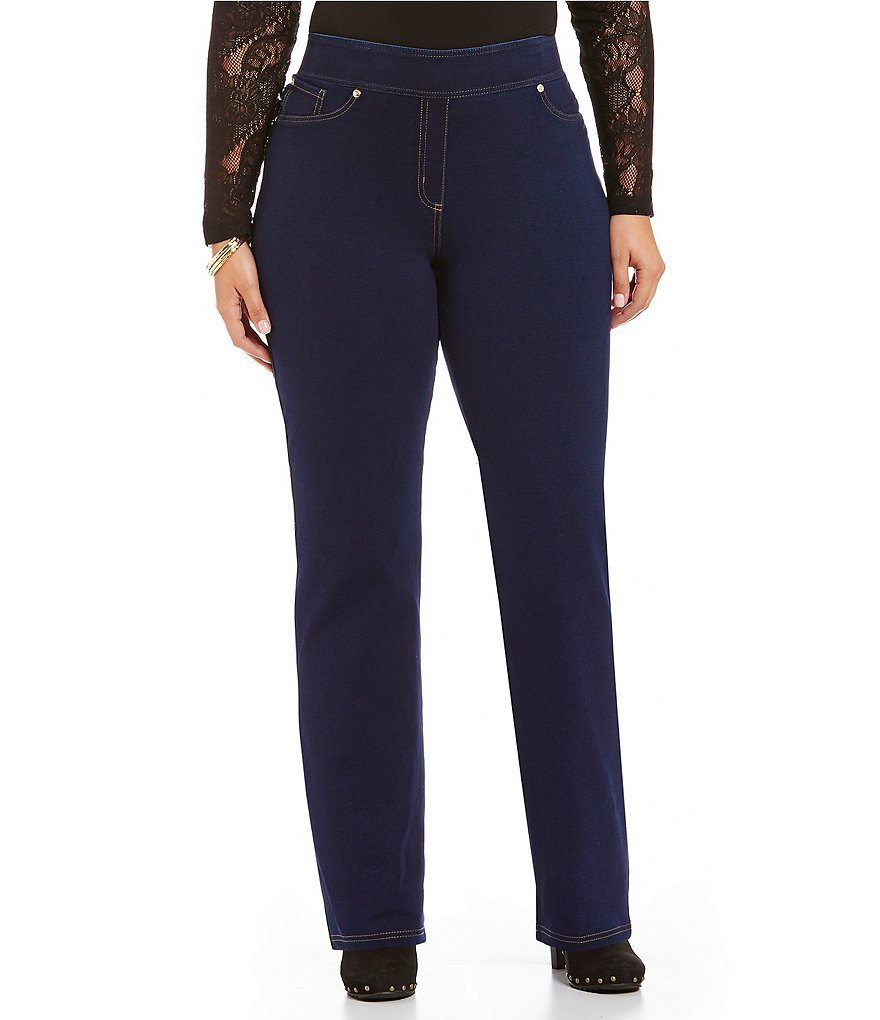 ADX SLIMS by Allison Daley Plus Straight-Leg Denim Pants
