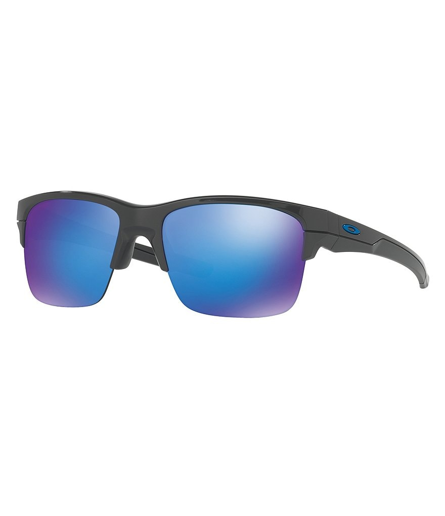 Oakley Thinlink Mirrored Semi-Rimless Sunglasses