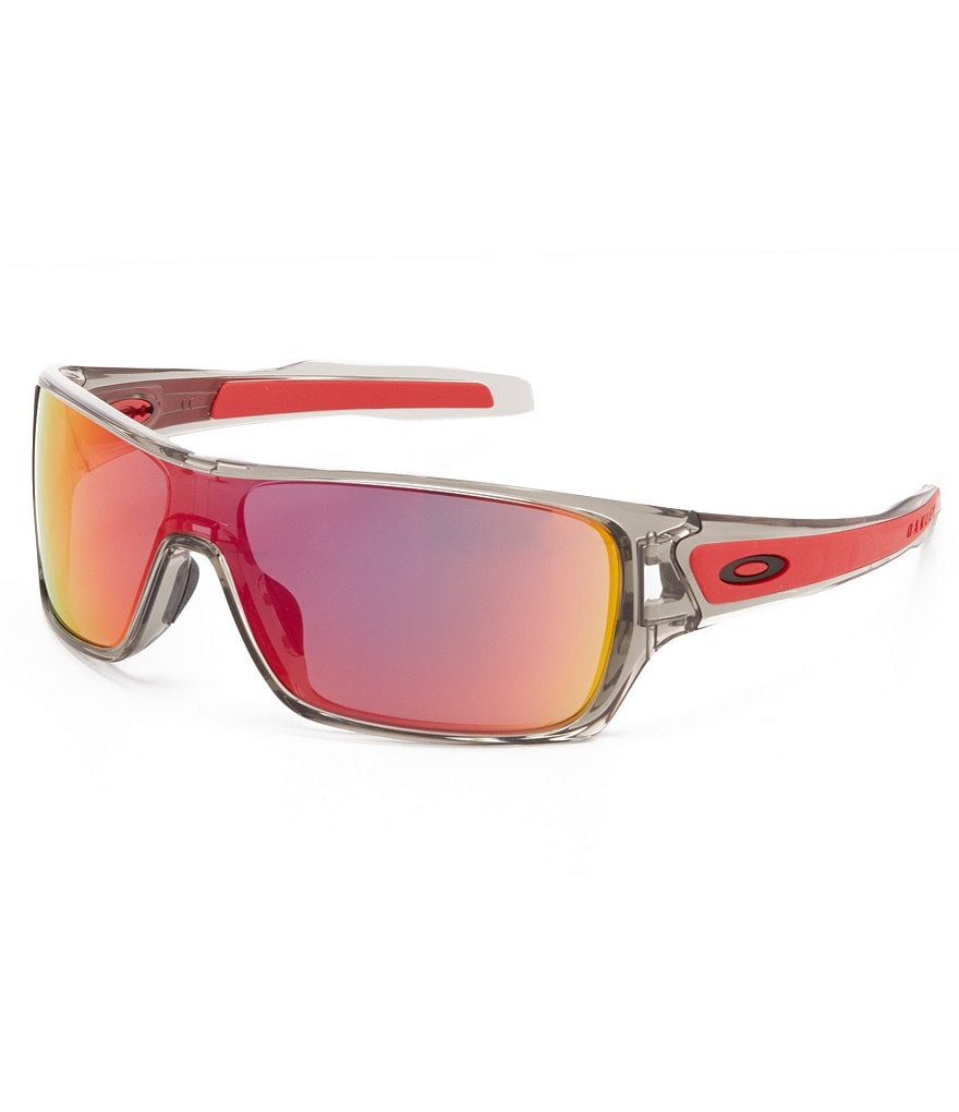 Oakley Turbine Mirrored Rectangular Pink Lens Sunglasses