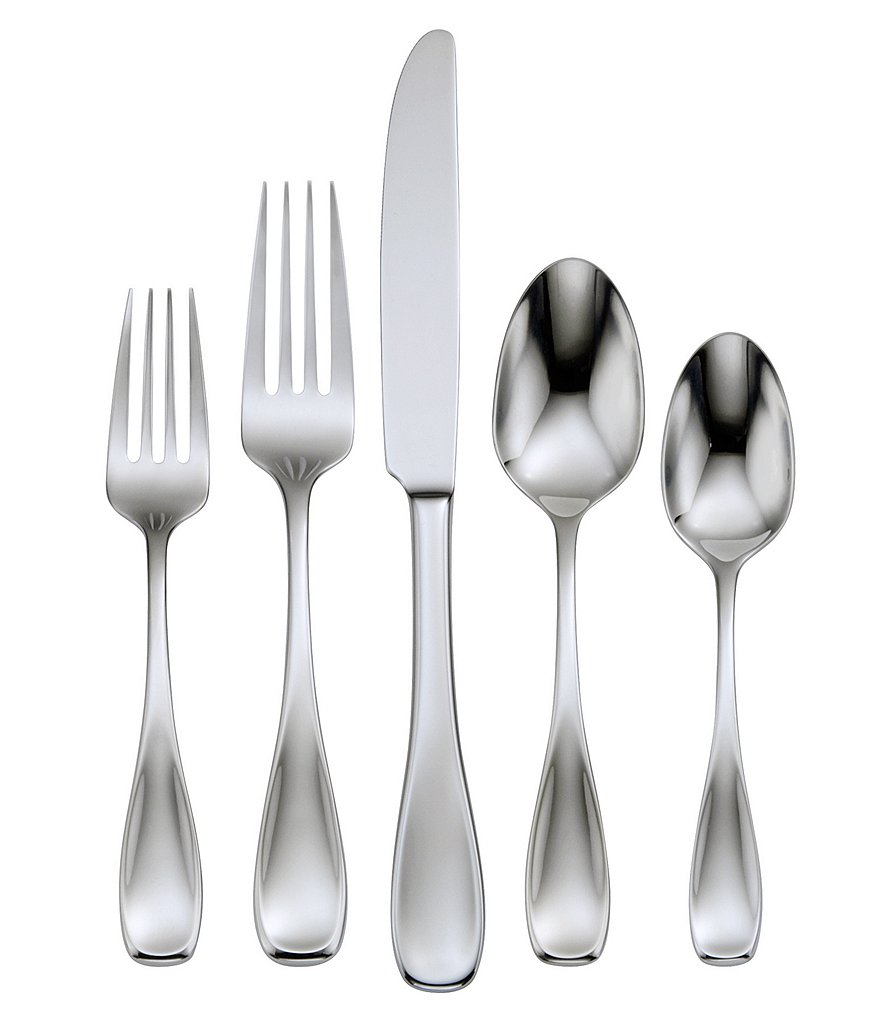 Oneida Voss 45-Piece Stainless Steel Flatware Set