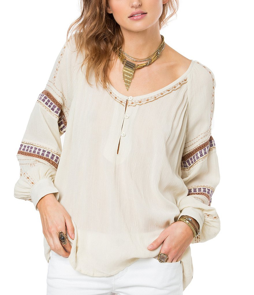 O´Neill Calla Embroidered Sleeve Blouse