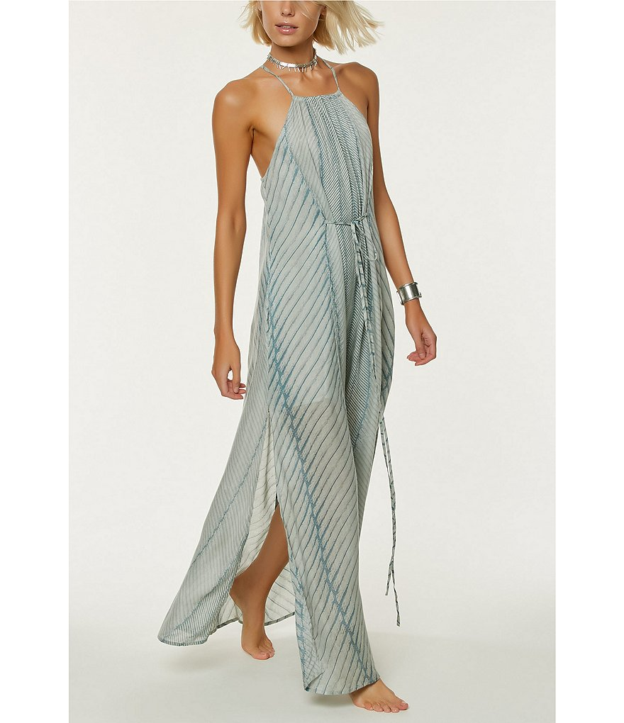 O'Neill Lenore Engineered-Print Maxi Dress