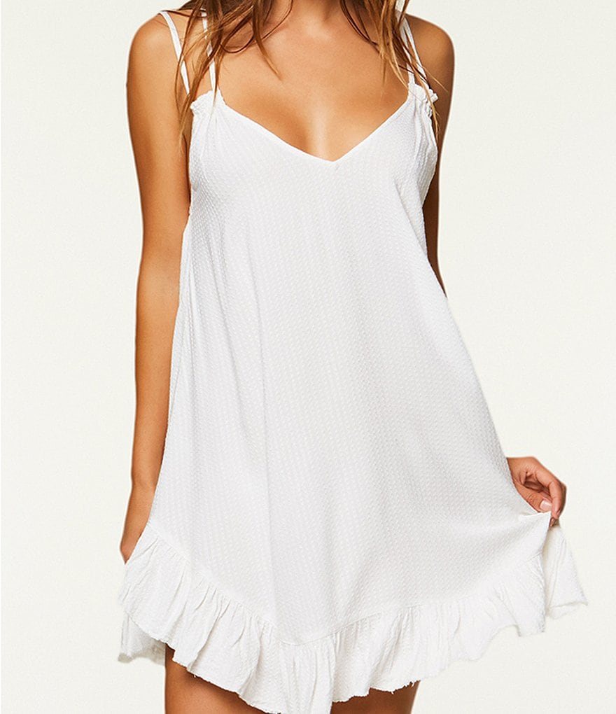 O'Neill Ophilia Textured Ruffle Dress Cover-Up