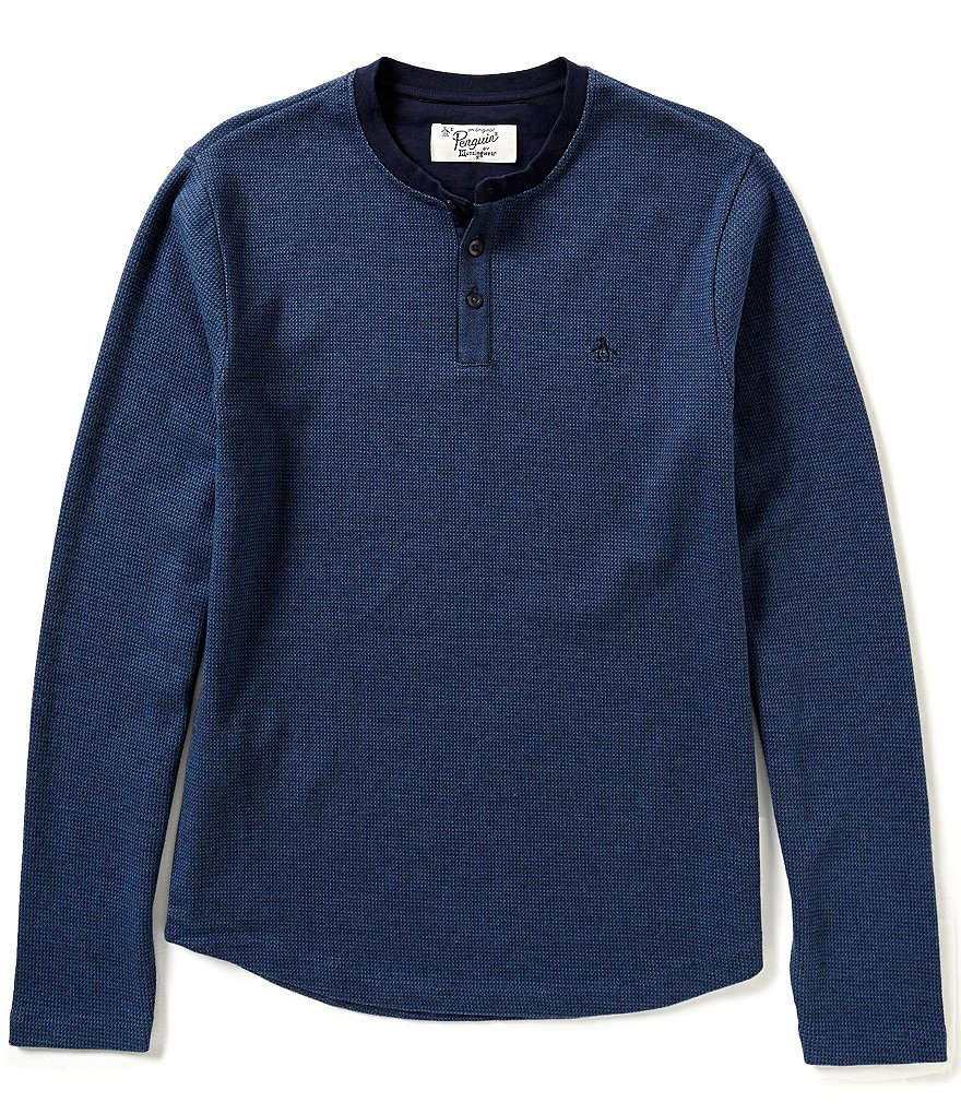 Original Penguin Herringbone Long-Sleeve Henley
