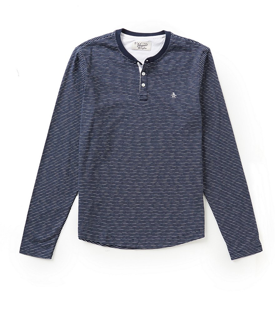 Original Penguin Long-Sleeve Feeder Striped Henley