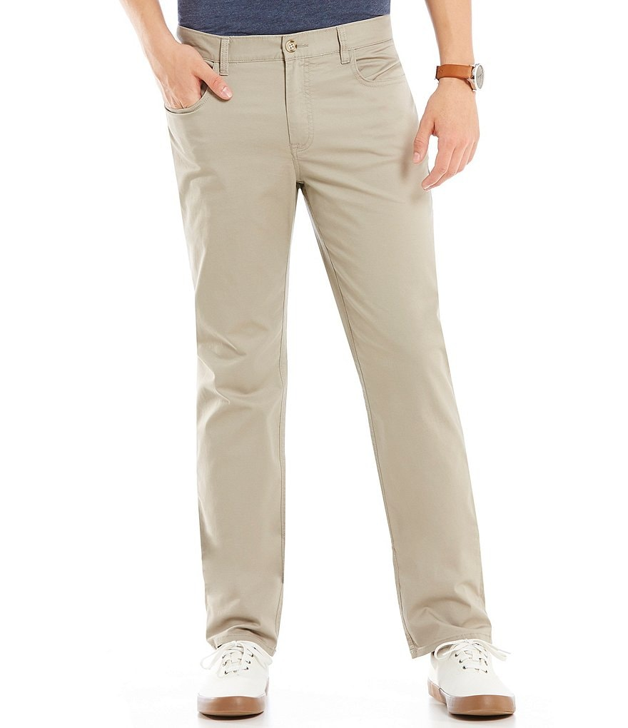 Original Penguin Slim-Fit P55 Twill Flat-Front Stretch 5-Pocket Pants