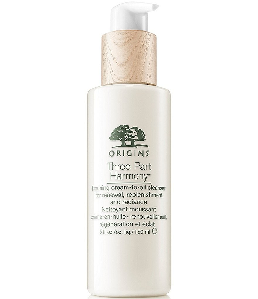 Origins Three Part Harmony Foaming Cream-to-Oil Cleanser for Renewal Replenishment and Radiance