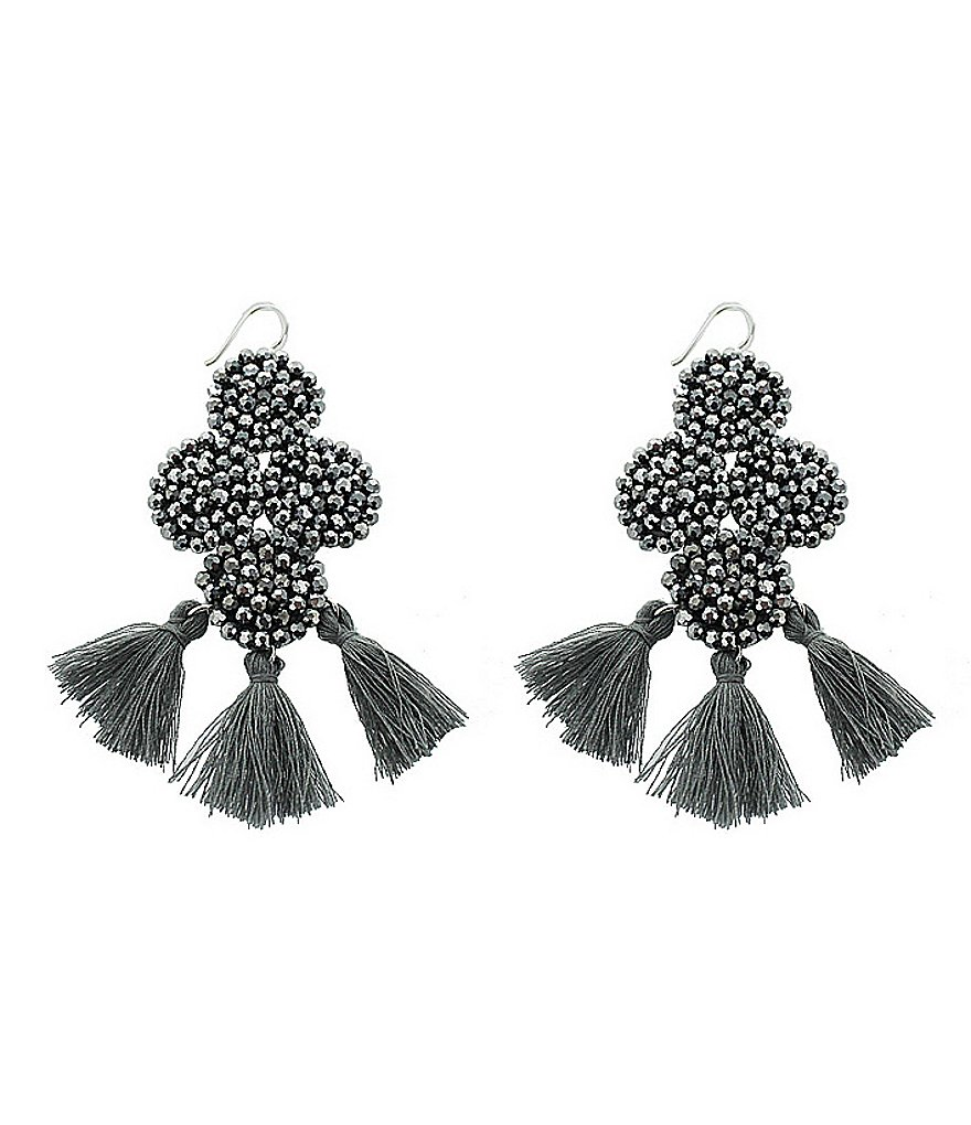 Panacea Hematite Crystal Statement Earrings