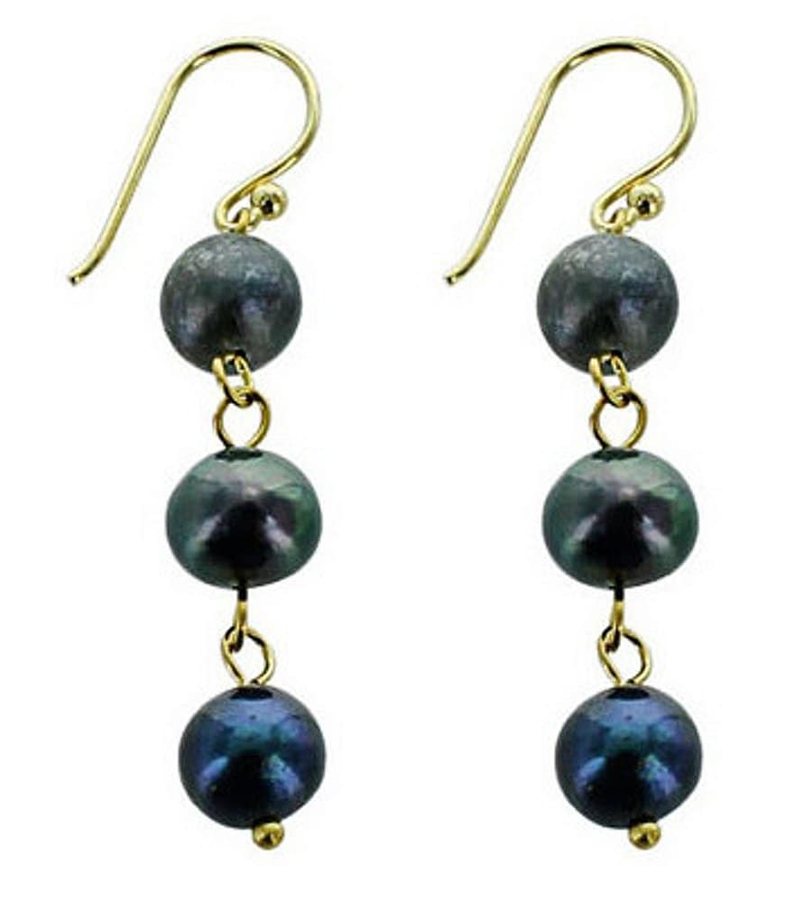 Panacea Triple-Drop Faux-Pearl Earrings