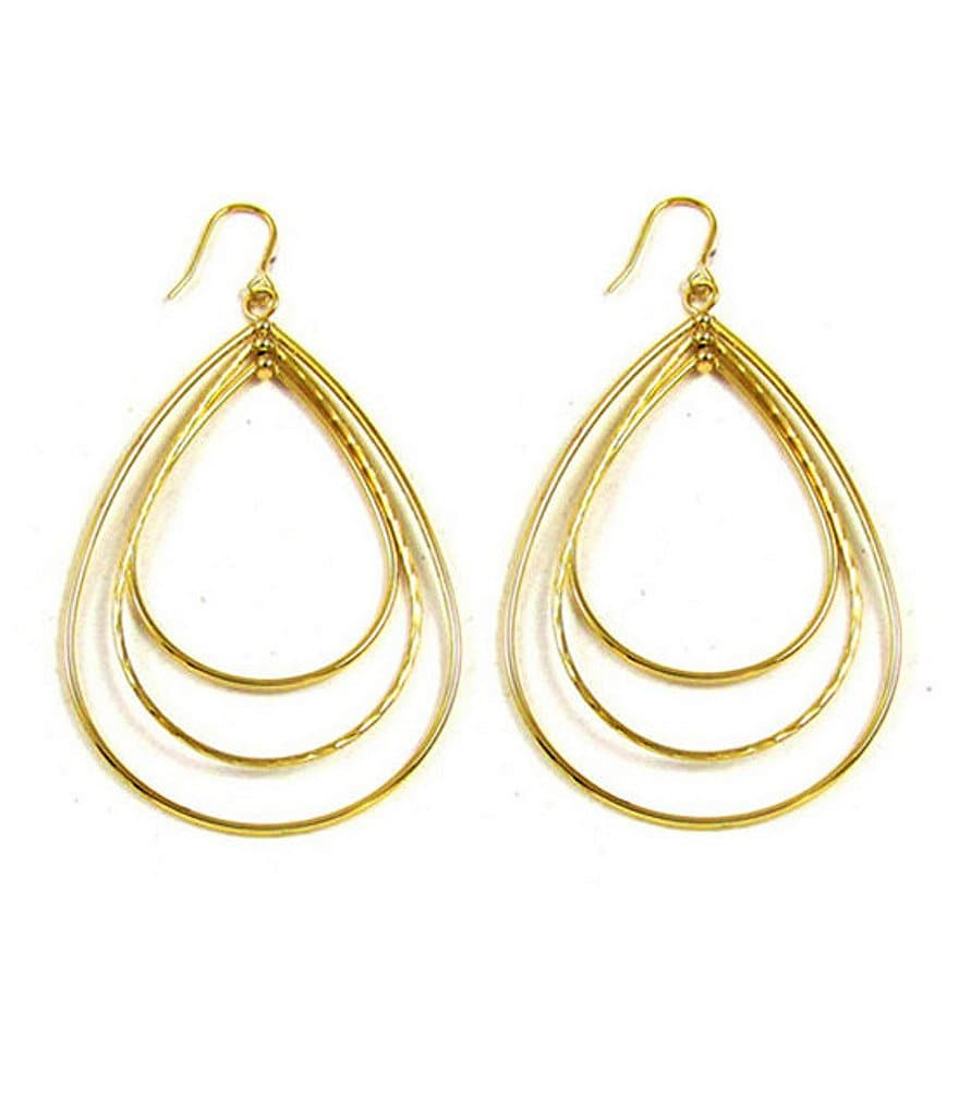 Panacea Triple-Hoop Teardrop Earrings