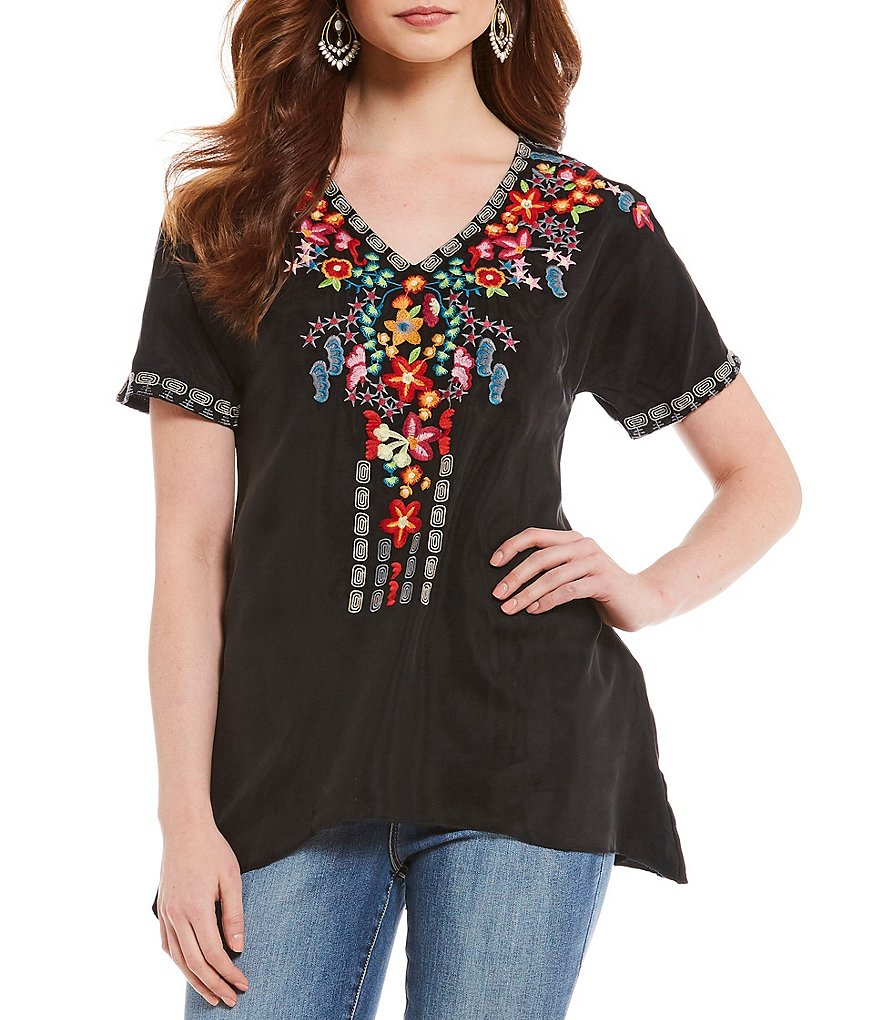 Paris Hues Embroidered Tunic