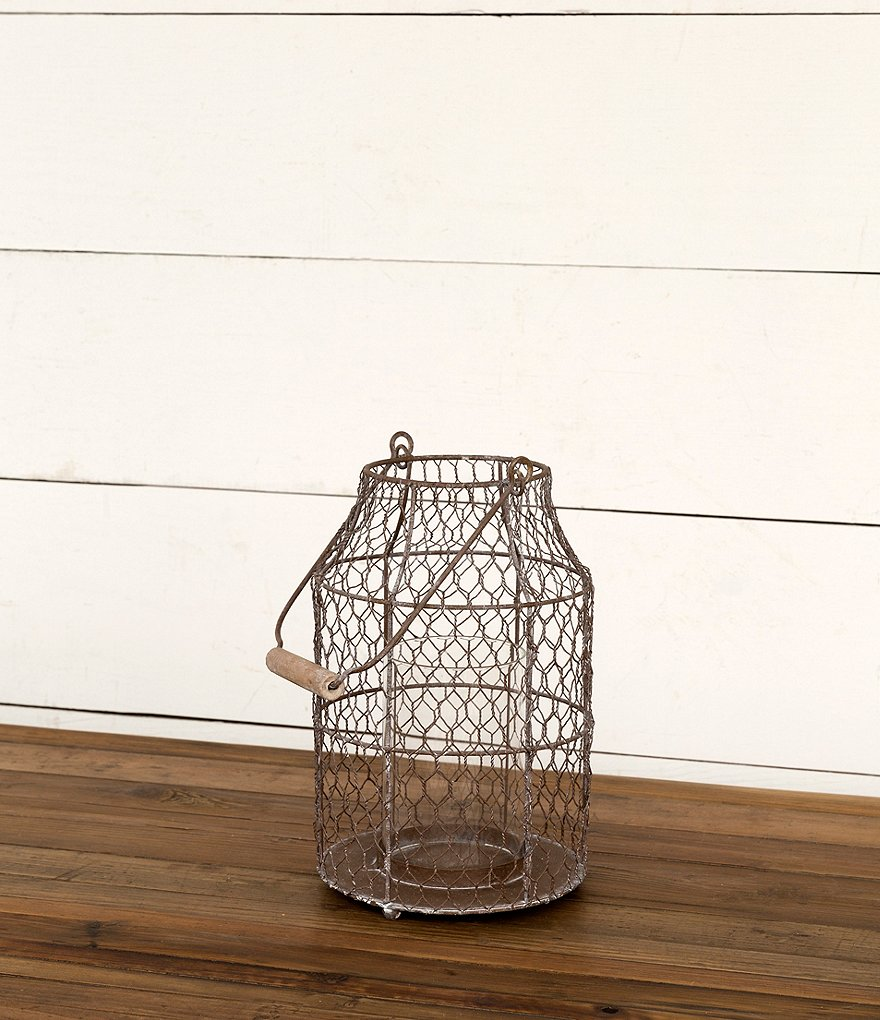 Park Hill Poultry Wire Fish Trap Lantern