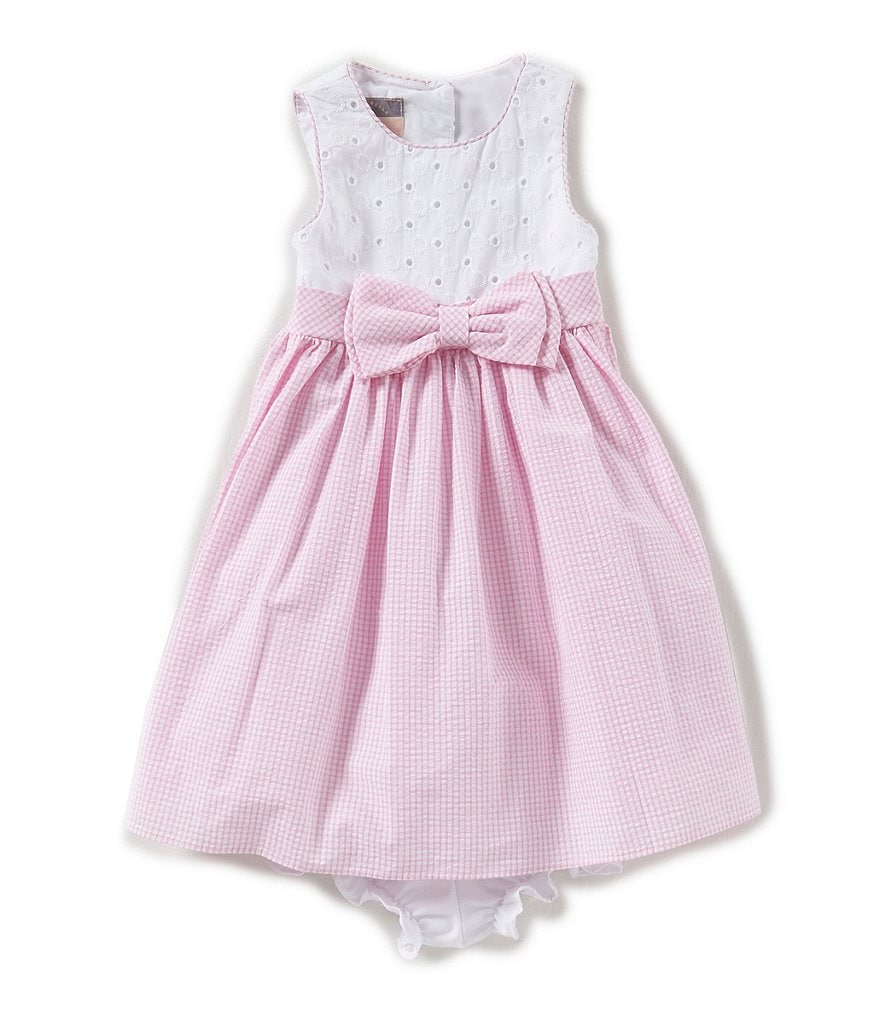 Pastourelle by Pippa & Julie Baby Girls 12-24 Months Colorblock Bow-Waist Dress