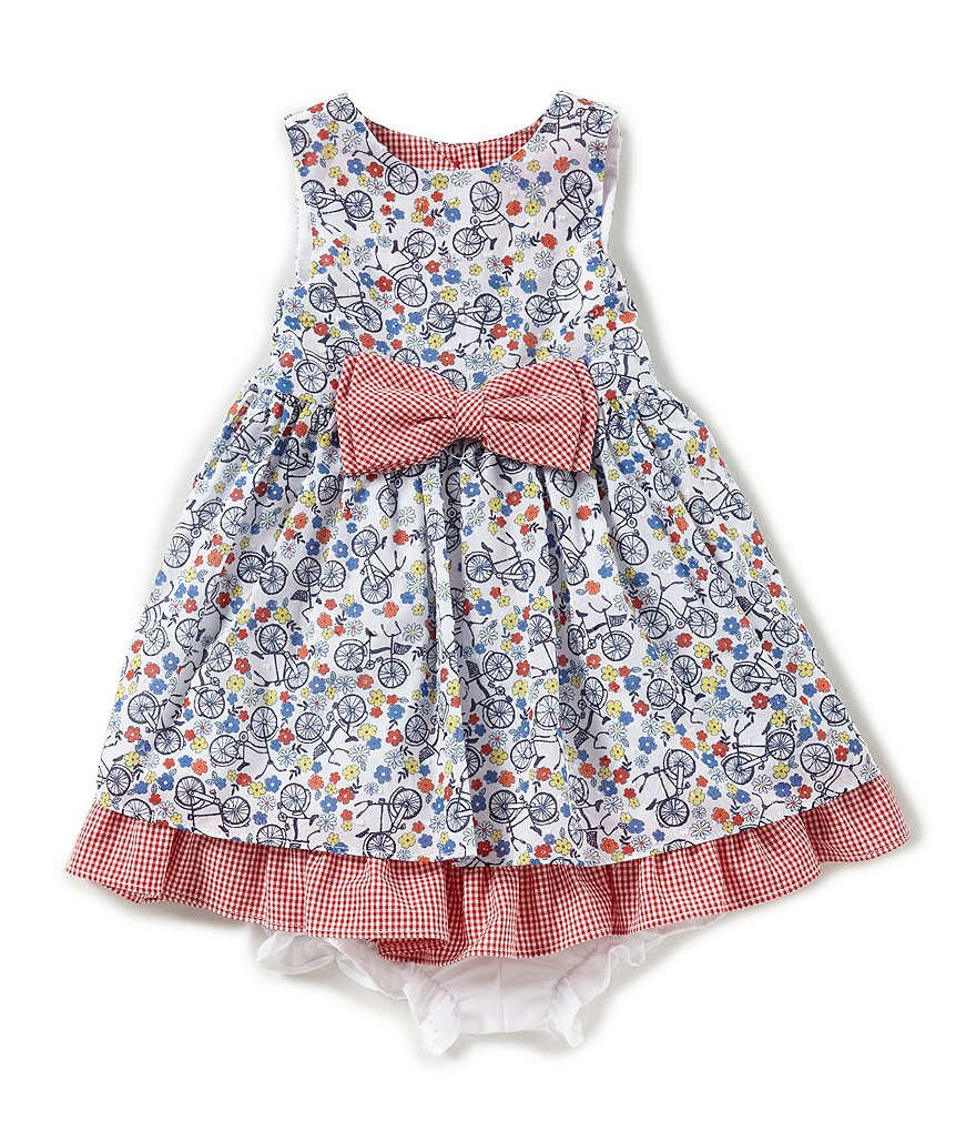 Pastourelle by Pippa & Julie Baby Girls 12-24 Months Floral Bow-Waist Dress