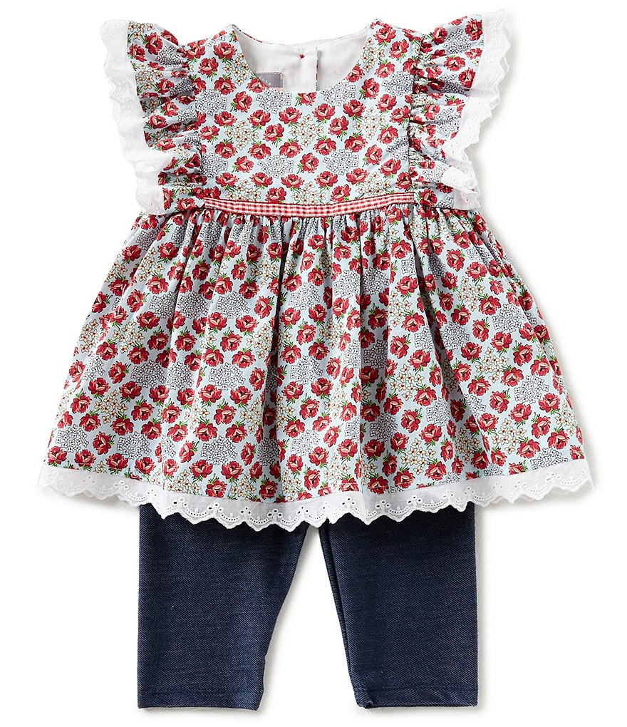 Pastourelle by Pippa & Julie Baby Girls 12-24 Months Floral-Printed Top & Solid Leggings Set