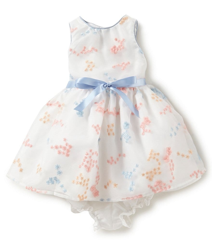 Pastourelle by Pippa & Julie Baby Girls 12-24 Months Sleeveless Embroidered Dress