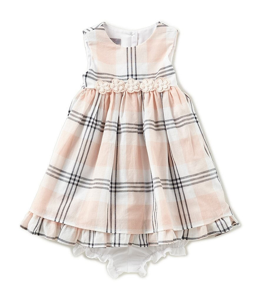 Pastourelle by Pippa & Julie Baby Girls 12-24 Months Sleeveless Plaid Dress
