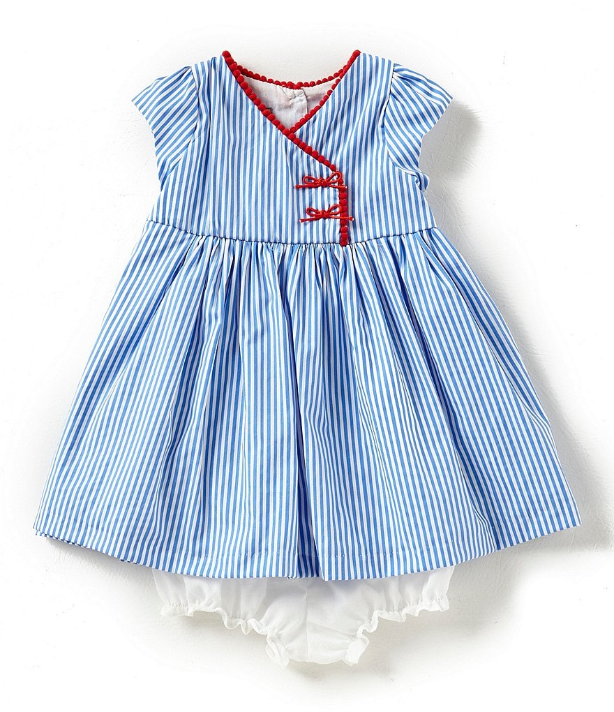Pastourelle by Pippa & Julie Baby Girls 12-24 Months Striped Cap-Sleeve Dress
