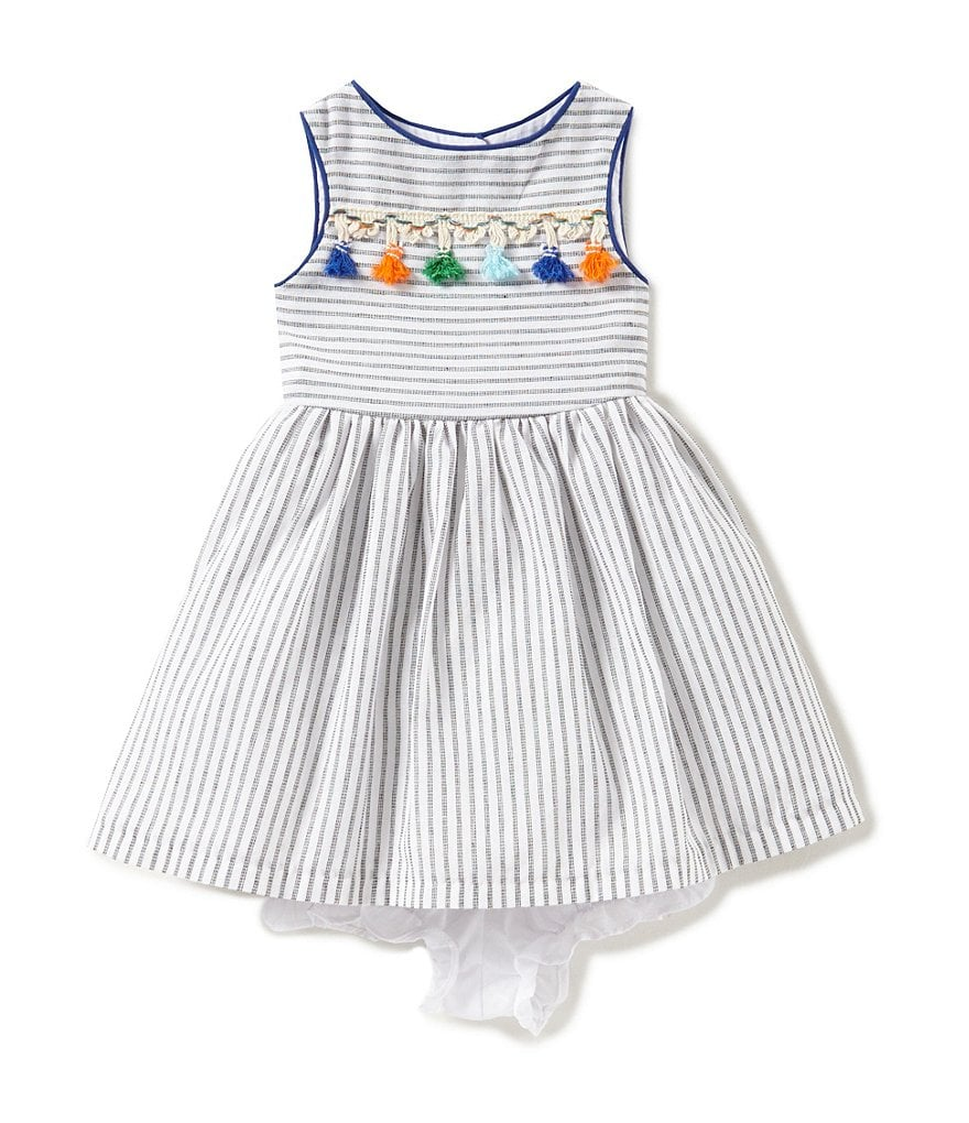 Pastourelle by Pippa & Julie Baby Girls 12-24 Months Striped Tassel Dress
